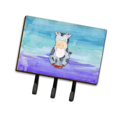 Cow Watercolor Leash or Key Holder