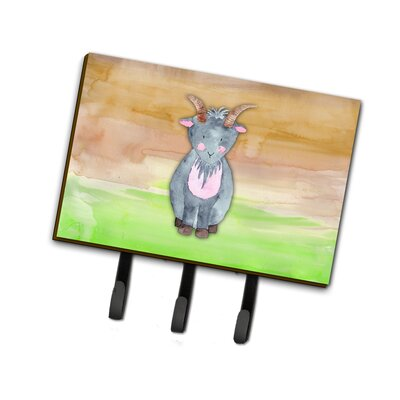 Goat Watercolor Leash or Key Holder