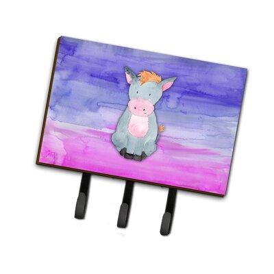 Donkey Watercolor Leash or Key Holder