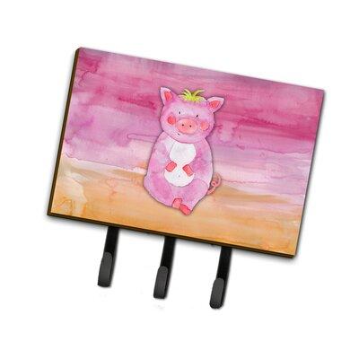 Pig Watercolor Leash or Key Holder