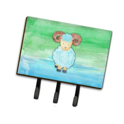 Ram Sheep Watercolor Leash or Key Holder