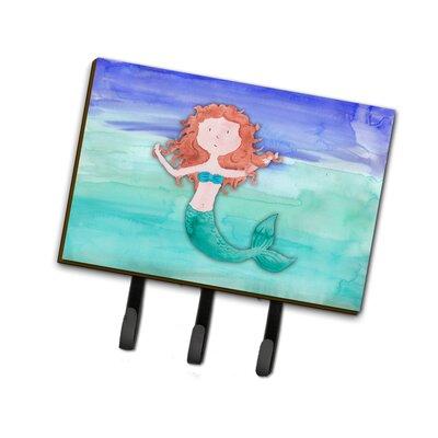 Ginger Mermaid Watercolor Leash or Key Holder