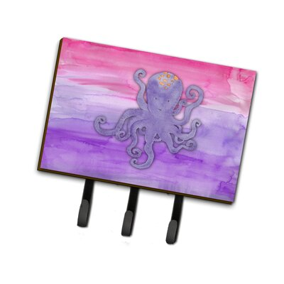Octopus Watercolor Leash or Key Holder