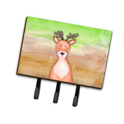 Deer Watercolor Leash or Key Holder