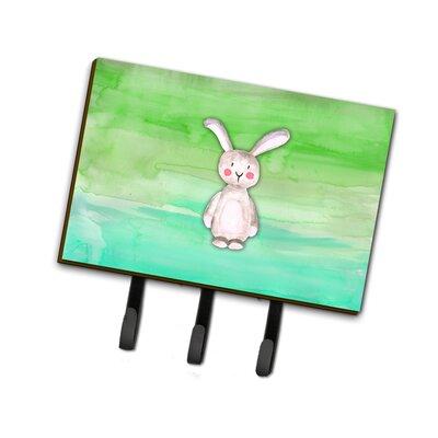 Bunny Rabbit Watercolor Leash or Key Holder