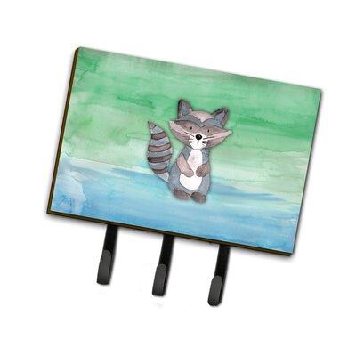 Raccoon Watercolor Leash or Key Holder