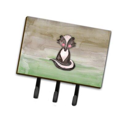 Badger Watercolor Leash or Key Holder