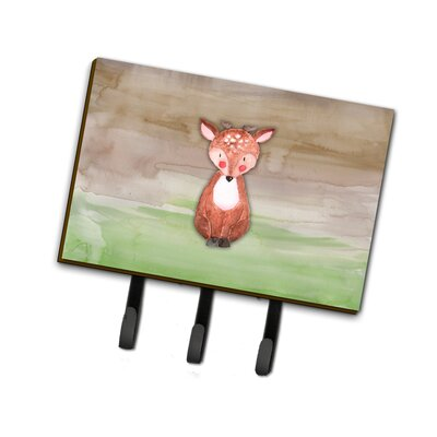 Baby Deer Watercolor Leash or Key Holder