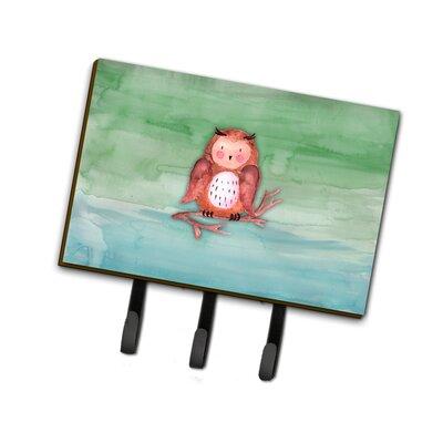Brown Owl Watercolor Leash or Key Holder