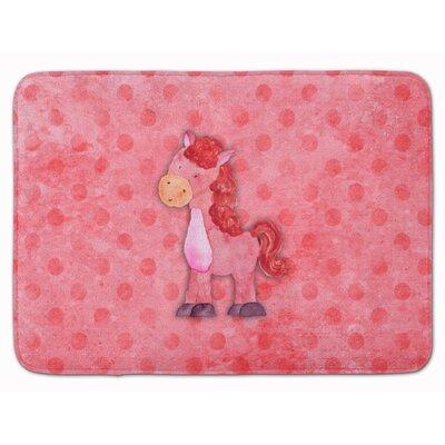 Horse Watercolor Memory Foam Bath Rug