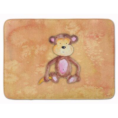 Xander Monkey Watercolor Memory Foam Bath Rug