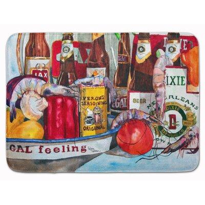 Veron's and New Orleans Beers Memory Foam Bath Rug
