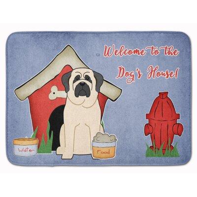 Dog House Mastiff Memory Foam Bath Rug Color: White