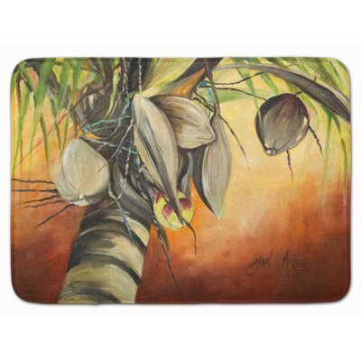 Bessie Coconut Tree Memory Foam Bath Rug