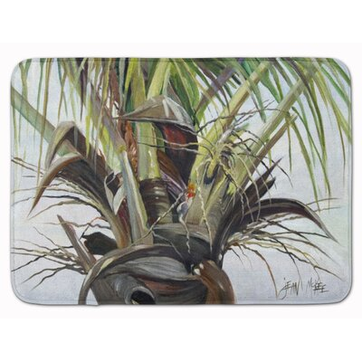 Binne Top Palm Tree Memory Foam Bath Rug