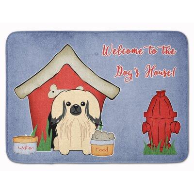 Dog House Pekingese Memory Foam Bath Rug Color: Cream