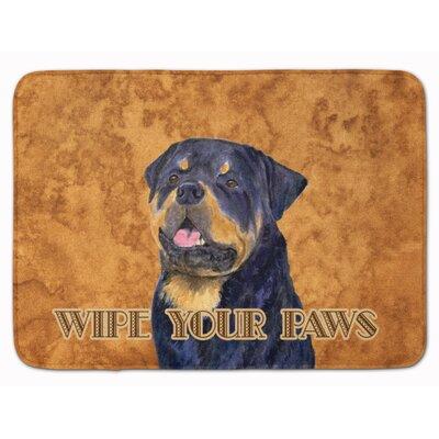 Rottweiler Wipe your Paws Memory Foam Bath Rug