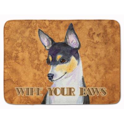 Toy Fox Terrier Wipe your Paws Memory Foam Bath Rug