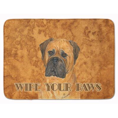 Bullmastiff Wipe your Paws Memory Foam Bath Rug