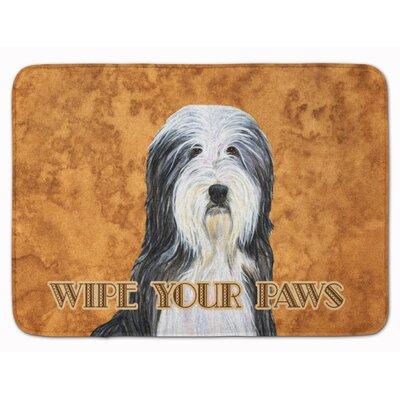 Bearded Collie Wipe your Paws Memory Foam Bath Rug