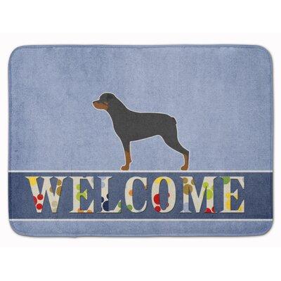 Rottweiler Welcome Memory Foam Bath Rug
