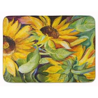 Lexi Sunflowers Memory Foam Bath Rug