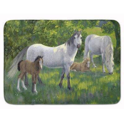 Horse Group Memory Foam Bath Rug