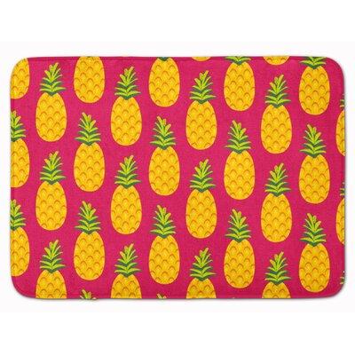 Azalea Pineapple Memory Foam Bath Rug Color: Pink