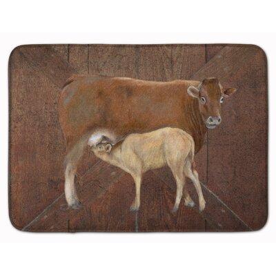 Cows Momma and Baby Memory Foam Bath Rug