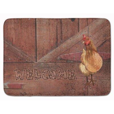 Welcome Chicken Memory Foam Bath Rug