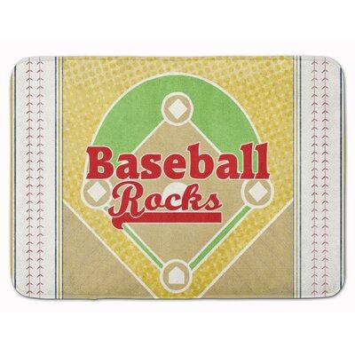 Baseball Rules Memory Foam Bath Rug