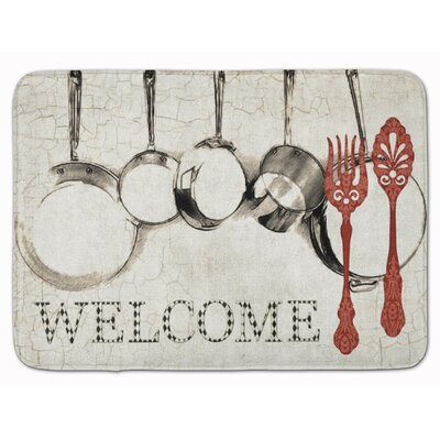 Welcome Pots and Pans Memory Foam Bath Rug