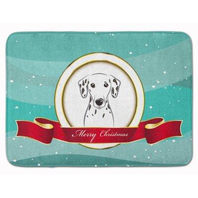 Dalmatian Merry Christmas Memory Foam Bath Rug