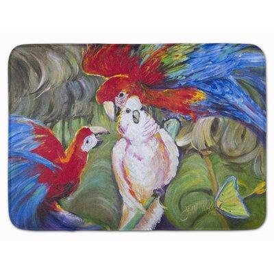 Menage-a-trois Parrots Memory Foam Bath Rug