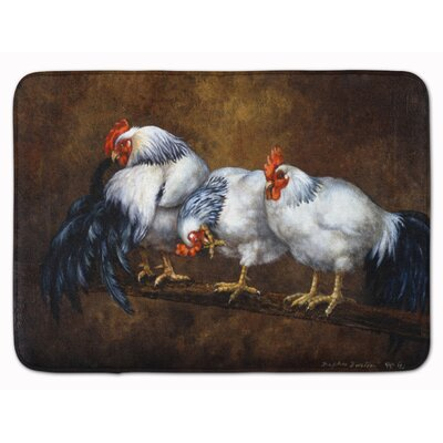 Jaiden Rooster and Chickens Memory Foam Bath Rug