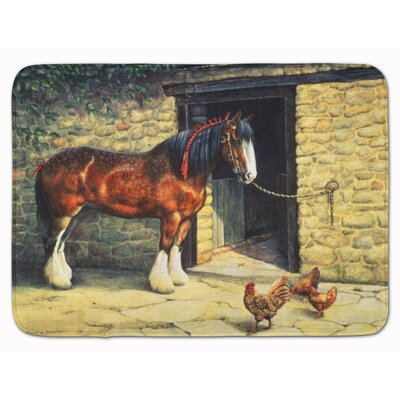 Horse and Chickens by Daphne Baxter Memory Foam Bath Rug