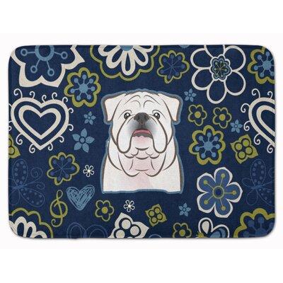 English Bulldog Memory Foam Bath Rug Color: White
