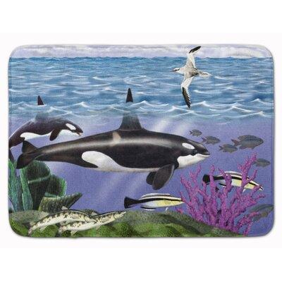 Whale Orcas Memory Foam Bath Rug