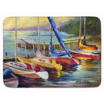 Sailboat at Sunset Memory Foam Bath Rug