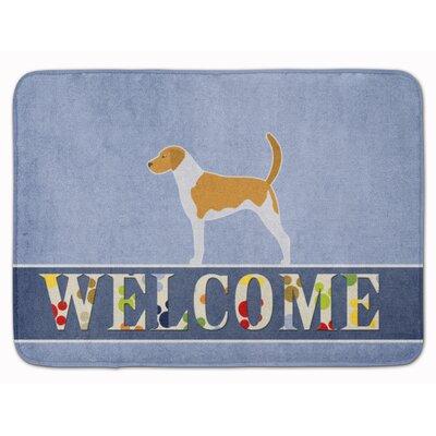 American Foxhound Welcome Memory Foam Bath Rug