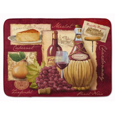 Blaisdell Wine and Cheese Memory Foam Bath Rug