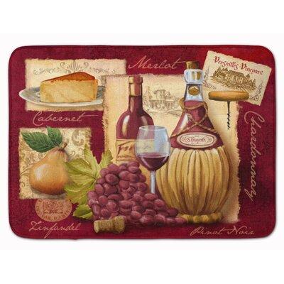 Blaisdell Wine and Cheese Memory Foam Bath Rug