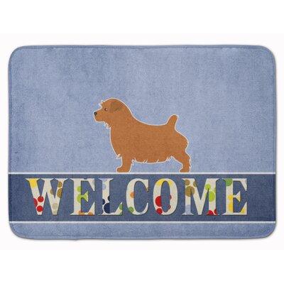 Norfolk Terrier Welcome Memory Foam Bath Rug
