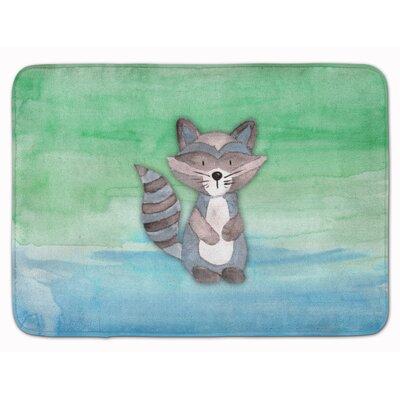Braxton Raccoon Watercolor Memory Foam Bath Rug