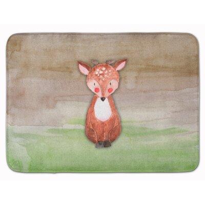 Beverley Baby Deer Watercolor Memory Foam Bath Rug