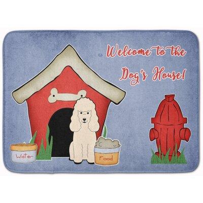 Dog House Poodle Memory Foam Bath Rug Color: White