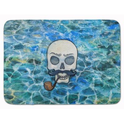 Skeleton Skull Pirate Memory Foam Bath Rug