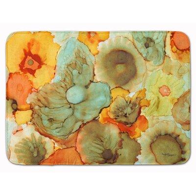 Flower Abstract Memory Foam Bath Rug