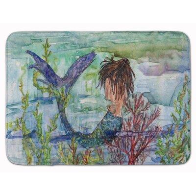 Brunette Mermaid Coral Fantasy Memory Foam Bath Rug