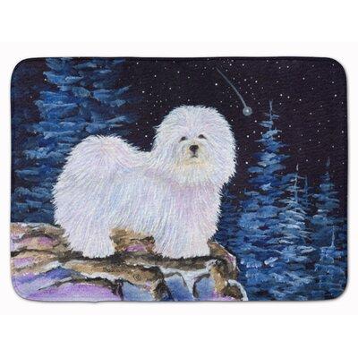 Starry Night Coton de Tulear Memory Foam Bath Rug